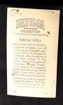 1913 T200 Fatima #14   Philadelphia Americans Back Thumbnail