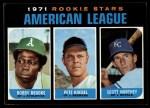 1971 Topps #633   -  Bobby Brooks / Pete Koegel / Scott Northey AL Rookies - Outfielders Front Thumbnail