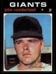 1971 Topps #108  John Cumberland  Front Thumbnail