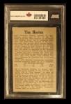 1958 Parkhurst #42  Tim Horton  Back Thumbnail