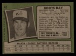 1971 Topps #42 LTS Boots Day  Back Thumbnail