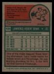 1975 Topps #420  Larry Bowa  Back Thumbnail