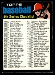 1971 Topps #369 RED  Checklist 4 Front Thumbnail