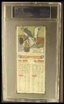 1955 Topps Doubleheaders #105  Hank Aaron / Ray Herbert  Back Thumbnail