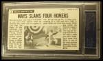 1964 Topps Giants #51  Willie Mays  Back Thumbnail