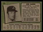 1971 Topps #306 COR Jim Nash   Back Thumbnail