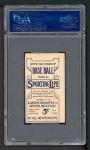 1910 M116 Sporting Life #73  Patsy Dougherty  Back Thumbnail