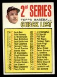 1967 Topps #103 B  -  Mickey Mantle Checklist 2 Front Thumbnail