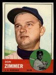 1963 Topps #439 xTOU Don Zimmer  Front Thumbnail