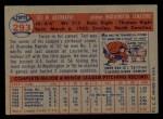 1957 Topps #293  Ted Abernathy  Back Thumbnail