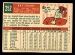 1959 Topps #252  Ray Boone  Back Thumbnail