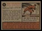 1962 Topps #46  Jack Baldschun  Back Thumbnail