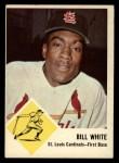 1963 Fleer #63  Bill White  Front Thumbnail