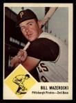 1963 Fleer #59  Bill Mazeroski  Front Thumbnail