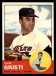1963 Topps #189  Dave Giusti  Front Thumbnail