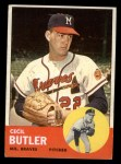 1963 Topps #201  Cecil Butler  Front Thumbnail