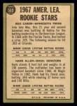 1967 Topps #569   -  Rod Carew / Hank Allen A.L. Rookies Back Thumbnail