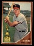 1962 Topps #154 A Lee Thomas  Front Thumbnail
