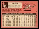 1969 Topps #22  Jesus Alou  Back Thumbnail