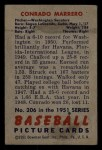 1951 Bowman #206  Connie Marrero  Back Thumbnail