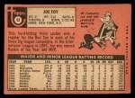 1969 Topps #93  Joe Foy  Back Thumbnail