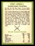1963 Fleer #13  Jerry Kindall  Back Thumbnail