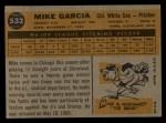 1960 Topps #532  Mike Garcia  Back Thumbnail