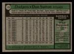 1979 Topps #170  Don Sutton  Back Thumbnail
