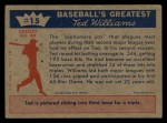 1959 Fleer #15   -  Ted Williams  Licks the Sophomore Jinx Back Thumbnail