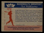 1959 Fleer #67   -  Ted Williams / Sam Snead Two Famous Fishermen Back Thumbnail