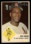 1963 Fleer #61  Bob Gibson  Front Thumbnail