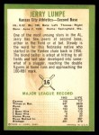 1963 Fleer #16  Jerry Lumpe  Back Thumbnail