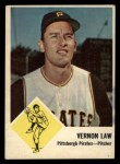1963 Fleer #58  Vern Law  Front Thumbnail