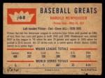 1960 Fleer #68  Hal Newhouser  Back Thumbnail