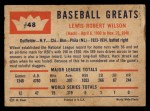 1960 Fleer #48  Hack Wilson  Back Thumbnail
