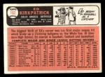 1966 Topps #102  Ed Kirkpatrick  Back Thumbnail
