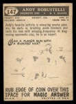 1959 Topps #147  Andy Robustelli  Back Thumbnail