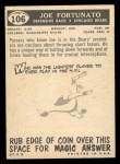 1959 Topps #106  Joe Fortunato  Back Thumbnail