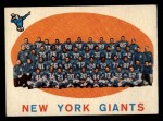 1959 Topps #133   Giants Team Checklist Front Thumbnail