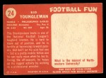 1958 Topps #24  Sid Youngelman  Back Thumbnail