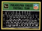 1967 Philadelphia #133   Eagles Team Front Thumbnail