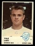 1961 Fleer #85  Yale Lary  Front Thumbnail