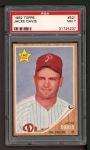 1962 Topps #521  Jacke Davis  Front Thumbnail
