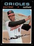 1971 Topps #53  Paul Blair  Front Thumbnail
