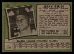 1971 Topps #158  Jerry Reuss  Back Thumbnail