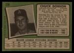 1971 Topps #238  Chuck Dobson  Back Thumbnail