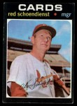 1971 Topps #239  Red Schoendienst  Front Thumbnail