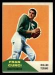 1960 Fleer #11  Fran Curci  Front Thumbnail