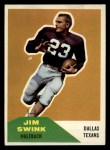 1960 Fleer #69  Jim Swink  Front Thumbnail