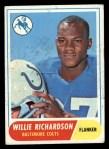 1968 Topps #152  Willie Richardson  Front Thumbnail